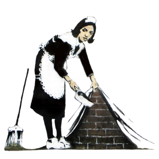 banksy-maid-canvas